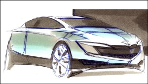 2010 mazda 3 sketch