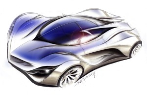 mazda furai design sketch