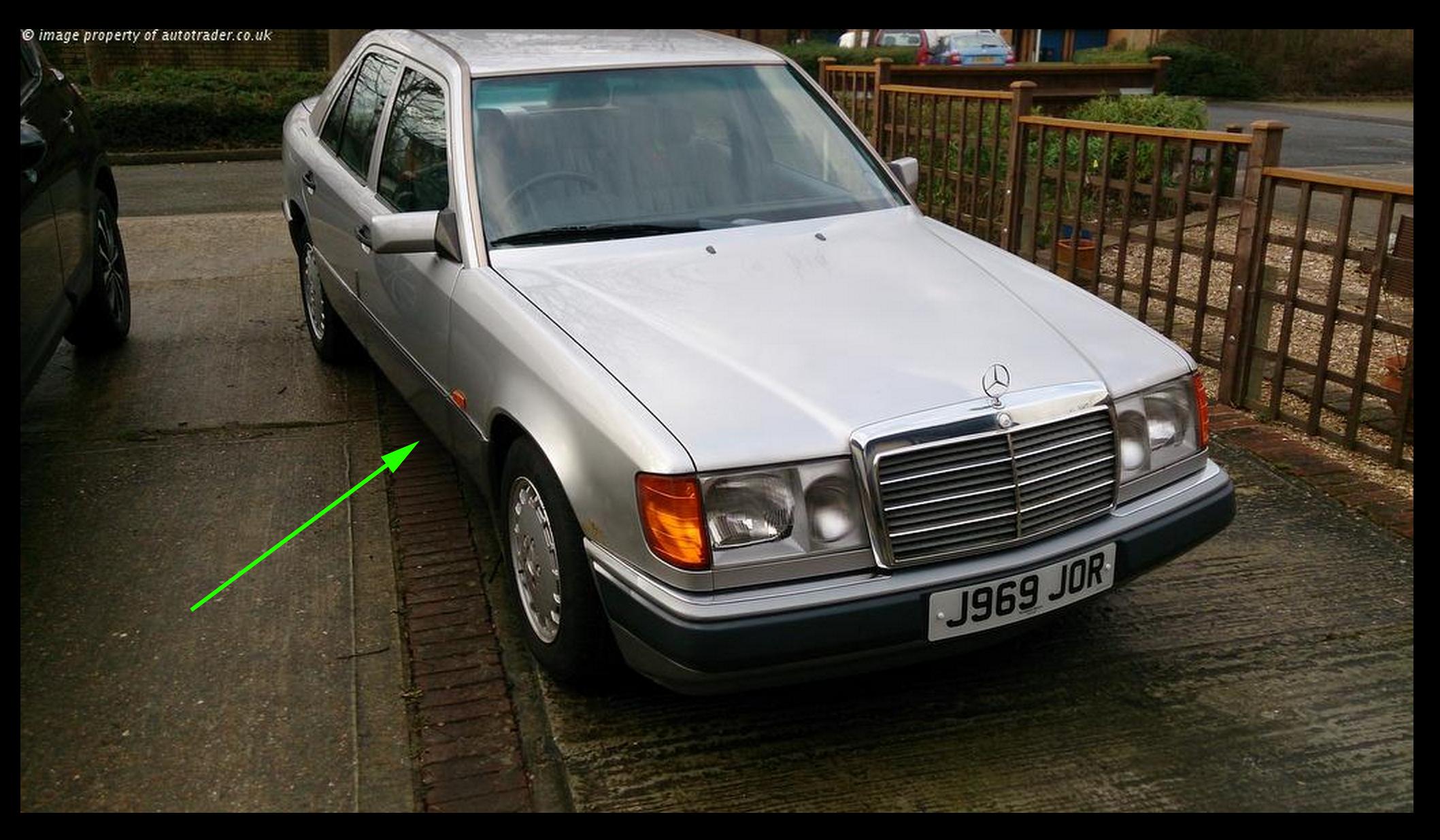 Mercedes W-124 UK model