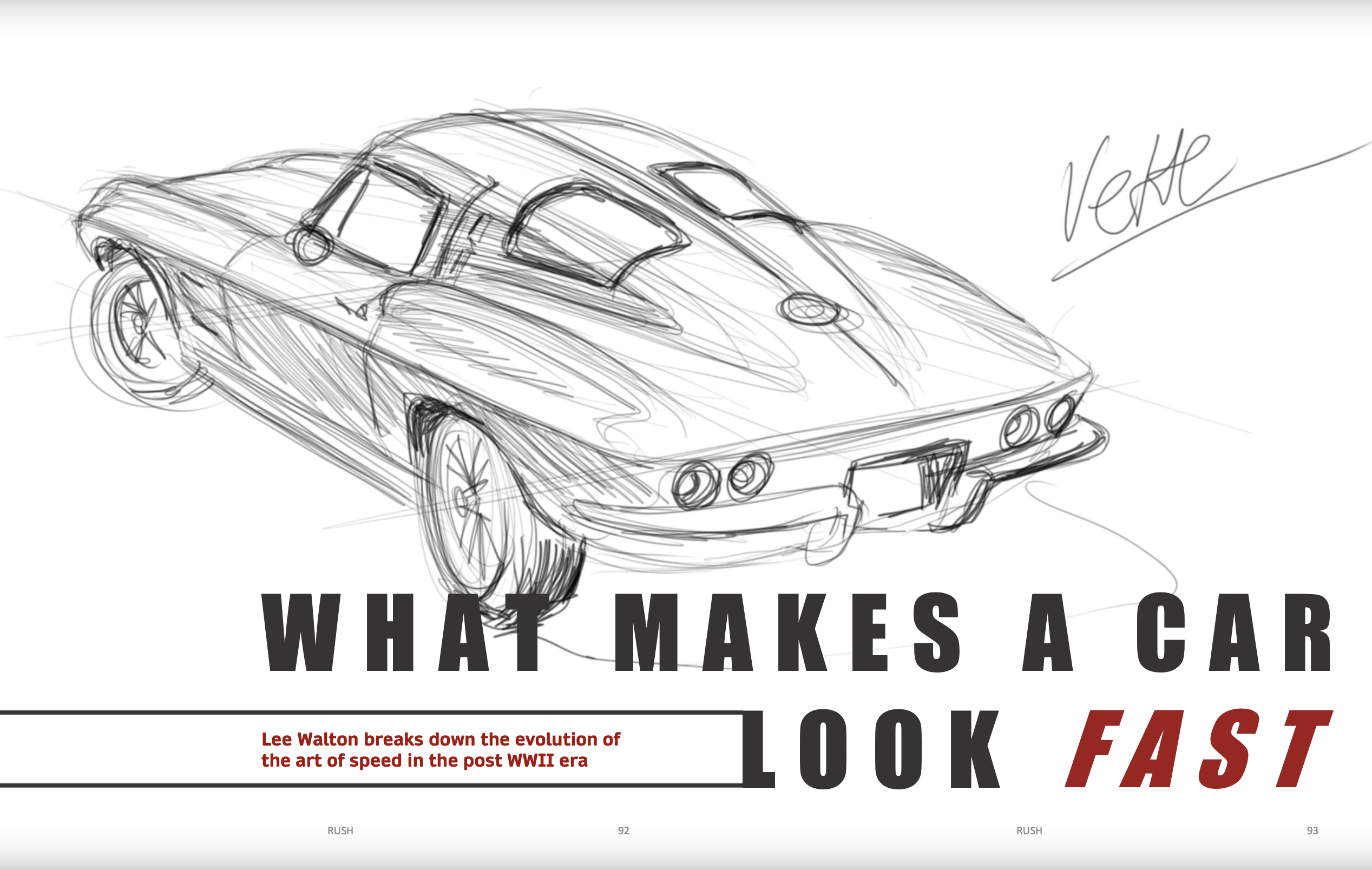 Rush Magazine- issue 2 featuring thoughts from Automotive Styling.